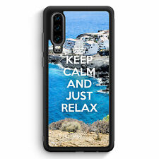 Keep Calm And Just Relax Huawei P30 Silikon Hülle Motiv Design Spruch Cool Sc...