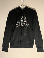 NWT Adidas Women's Logo Camo Hoodie Black Size XS