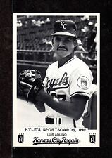 1989  Luis Aquino  KC ROYALS  UNSIGNED 3-1/4 x 5   B&W TEAM ISSUED PHOTO CARD #2
