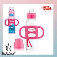 New listing Sippy Spout Baby Bottle Removable Handles Silicone 8 Ounce Bpa Free Pink
