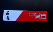 "Aluminum ""Fastest"" TRD Racing Car Auto emblem badge sticker Fit for Toyota Yaris"