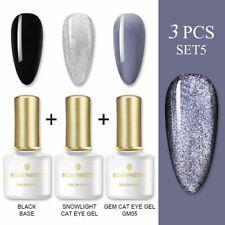 Born Pretty 6ml 3PCS/SET Soak Off Nail Polish Gema Ojo de Gato de Gel UV Gel Kit Barniz