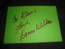 Donna Wilkes - Autogramm - Autograph - signed - dedicace - Angel -