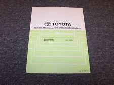 2007-2008 Toyota Camry Solara Shop Service Collision Damage Repair Manual SE SLE