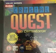 Crystal Quest W CritterEditor-PC CD-ROM-Mac Soft Best Seller-RARE-SHIPS N 24 HRS