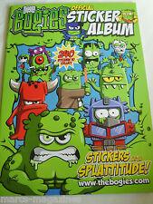 Rara la bogies T Max 2009 splattitude libro de pegatinas álbum vacío sin usar