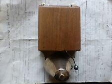 Restored Antique Golden Wood & Brass Electric Doorbell - 24 Volts (butlers maid)