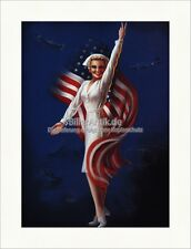 American Nurse Stars militaire chars Bomber Billy DeVORSS Art pression PIN UP 037