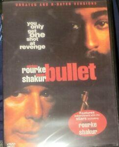 BULLET Mickey Rourke, 2pac Tupac Shakur RARE gangster DVD BRAND NEW