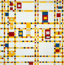 Broadway Boogie Woogie   by Piet Mondrian  Giclee Canvas Print  Repro
