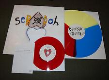 """Sebadoh Defend Yourself Tri Color Vinyl Record LP Bonus 7"""" # of 500 Dinosaur Jr."""