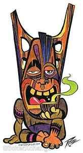 Kava Tiki Sticker Decal Artist The Pizz P41