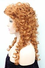 Fashion women's wigs curly 60cm long synthetic hair wig  loose curls color 130A