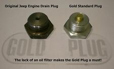 Jeep Willys CJ3 Magnetic Drain Plug Engine Protection Military Jeep 7/8 - 16
