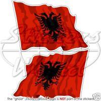 "ALBANIAN Flying Flag ALBANIA Stickers Decal 12cm (4.7"")"