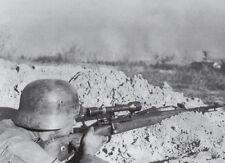 B&W Photo German Sniper with  Mauser 98 WWII WW2 Wehrmacht World War Two