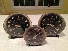 VINTAGE Lot of 3 WESTCLOX BIG BEN & BABY BEN Alarm Clocks Parts or repair.