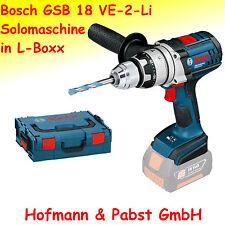 Bosch Akkuschlagbohrschrauber GSB 18 VE-2-LI  Sologerät in L-Boxx