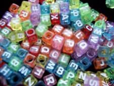 500pcs 7mm cube assorted acrylic alphabet / letter beads