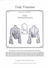 Sewing pattern Truly Victorian Edwardian ladies 1903 blouse TVE41