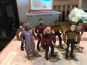 Playmates Star Trek The Next Generation Action Figures (Picard,Riker,Worf)