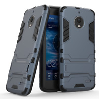 SLIM HEAVY DUTY TOUGH SHOCK PROOF BUILDER PHONE CASE FOR MOTOROLA MOTO E4