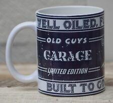OLD GUYS GARAGE TEA COFFEE MUG CUP WORKSHOP GARAGE OFFICE MOTORBIKE COOL GIFT