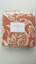 """Pottery Barn Alessandra Floral Blackout Lined Drape Terracotta Red 96"""" #4323"""