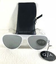 42c42740add8 Quay Australia Iconic Unisex Sunglasses Aviator White Frame Silver Lens