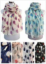 Women Ladies Long Summer Style Hedgehog Print Pattern Shawl Scarf  Warp Stole