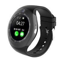 Round Touch Screen Bluetooth Smart Watch Camera Cam Unlocked GSM Phone
