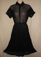 BRANDY USA S M 38 NWT Black Sheer Lace Dress Rockabilly Grunge Pin-Up Melville