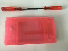 Austausch Ersatz Komplett Gehäuse für Nintendo DSi in Transparent Rot