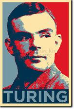 Alan Turing PHOTO PRINT POSTER CADEAU (OBAMA HOPE)