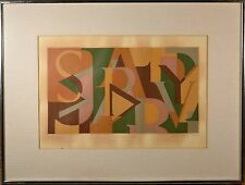 """Modern Art Serigraph Letter Collage, Signed """"Marta"""" Collection of Spanish Art"""