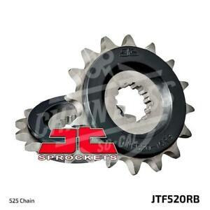 JT Sprockets 525 Front Sprocket Rubber Cushioned Steel 17T Natural JTF520.17RB