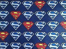DC Comic Superman/Super man Emblem FABRIC FQ/FAT QUARTER COTTON brushed cotton