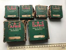 Six FAFNIR (F.B.C) Ball & Roller Bearings, different sizes