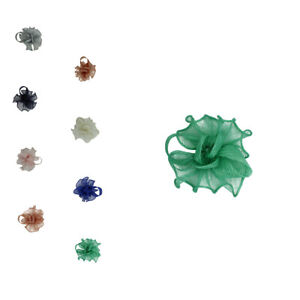 Small Flower Feather Hat Fascinator Brooch Pin Clip Wedding Royal Ascot Prom UK