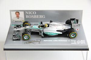 F1 Minichamps Mercedes AMG W04 ROSBERG 2013 1/43