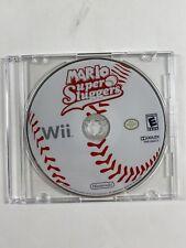 Mario Super Sluggers (Nintendo Wii, 2008) Game Disc & Manual Only