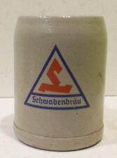 """« Age Schwabenbräu """" Faience Chope à Bière 0,5L"""