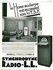 Publicité ancienne Radio L-L TSF  1929  issu de magazine