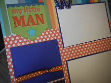 My Little Man Boy Friends Two 12x12 Premade Scrapbook Pages 4 Family Son