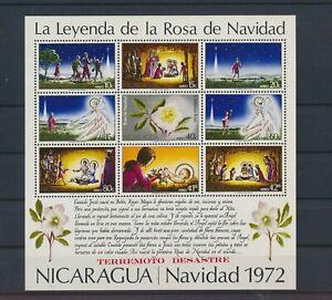 LO40977 Nicaragua 1972 christmas holidays good sheet MNH