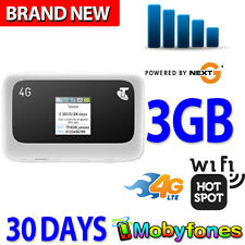 TELSTRA 4G MY POCKET WIFI PLUS ZTE MF910 3GB DATA SIM WIRELESS BROADBAND MODEM