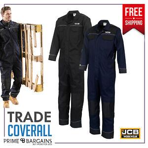 JCB Mens Pro Heavy Duty Work Overalls Coveralls Boiler Suit Boilersuit Mechanics