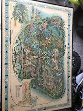 Carte Du Parc Disneyland Usa Disneyworld Originale 1962 Tableau Map Floride