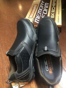 Men's Skechers Montz Devent Sz 8 Black Casual Loafer Comfort Slip On Shoes 64440
