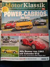 Motor Klassik August 2021  Power Cabrios der 90er Ford Osi BMW 2000 Volvo 480